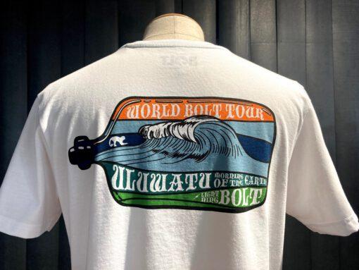 Lightning Bolt Uluwatu T-Shirt, weiß, Gross real wear München, Front-Back Print