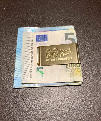 MQQN Classic Money Clip Brass, Gross real wear München, Messing, MQQN Equipped, Geldklammer
