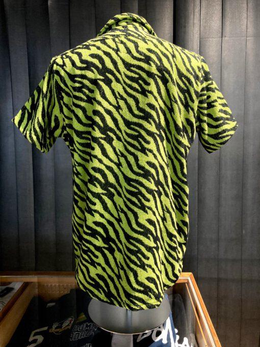 Oas Tiger Soft Cotton Terry Shirt, kurzarm Hemd, Gross real wear München, Frottee, Reverskragen, Loop Collar, Geen, Black