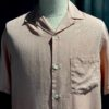 Portuguese Flannel Dogtown Shirt, kurzarm Hemd, Gross real wear München, Rose, Brusttasche, Loop Collar, Reverskragen, Lyocell