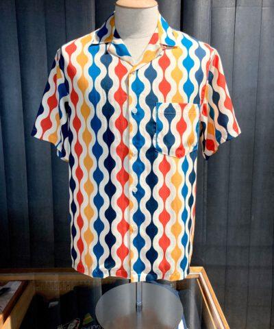 Portuguese Flannel Drop Shirt, kurzarm Shirt, Lyocell, Gross real wear München, Brusttasche, Reverskragen, Loop Collar, Bunt