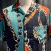 Portuguese Flannel Nautica 70's Shirt, Gross real wear München, kurzarm Hemd, Brusttasche, Reverskragen, Loop Collar, Lyocell
