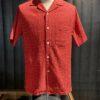Portuguese Flannel Ring Shirt, kurzarm Hemd, Reverskragen, Loop Collar, Brusttasche, Gross real wear München, Red