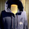Stüssy Basic Zip Hood, Kaputzenjacke mit Reißverschluß, Gross real wear München, Front und Backprint