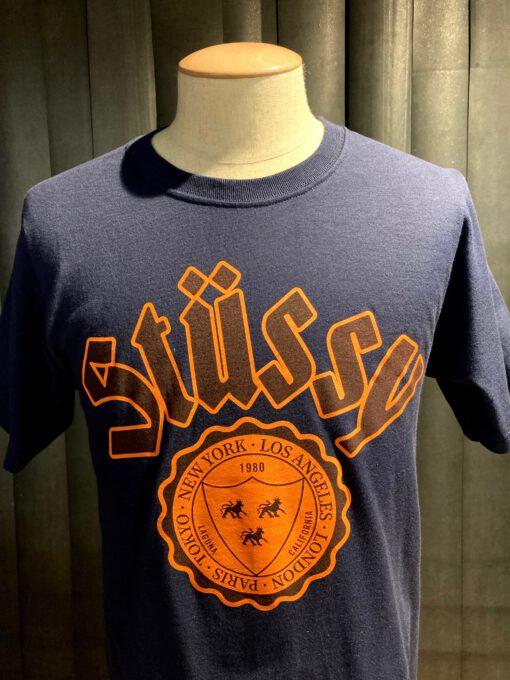 Stüssy City Seal T-Shirt, Gross real wear München, navy