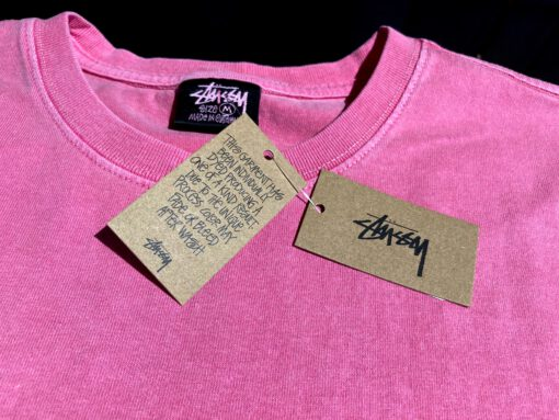 Stüssy Club Pigment Dyed T-Shirt, Gross real wear München, Pink, Kreuz