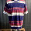 Stüssy Hudson Stripe Crew, gestreiftes frotte Sweatshirt kurzarm, Gross real wear München, Stüssy Logo Stickerei