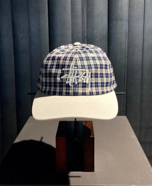 Stüssy Plaid 2-Tone Low Pro Cap, Baseball Cap, kariert beige, Gross real wear München