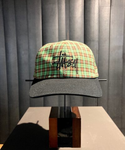 Stüssy Plaid 2-Tone Low Pro Cap, Baseball Cap, kariert green, Gross real wear München