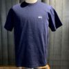 Stüssy Stock Logo Ss Crew T-Shirt, Gross-real wear München, Navy, Cotton, Stickerei