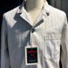 Vetra Worker Jacket Herringbone, Baumwolle, Leinen, Stehkragen, Reverskragen, durchgeknöpft, Gross real wear München, Beige
