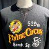 Buzz Rickson's Set In Crew Neck Sweatshirt 529th Bomb Squadron Flying Circus, Black, Cotton, Gross real wear München