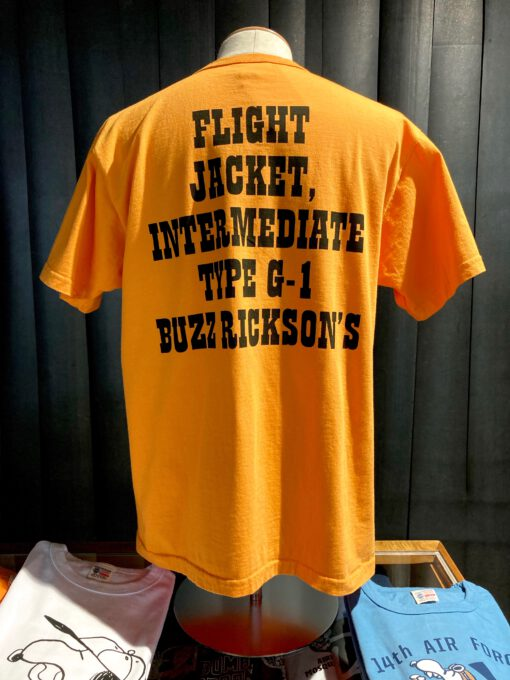 Buzz Rickson's X Peanuts U.S.Navy, Snoopy, Gross real wear München, Orange, Cotton, Front and Back Print