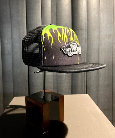 Vans Classic Patch Slime Flame Boys Trucker Cap, Gross real wear München, Black, Mesh Cap, Kinder Cap
