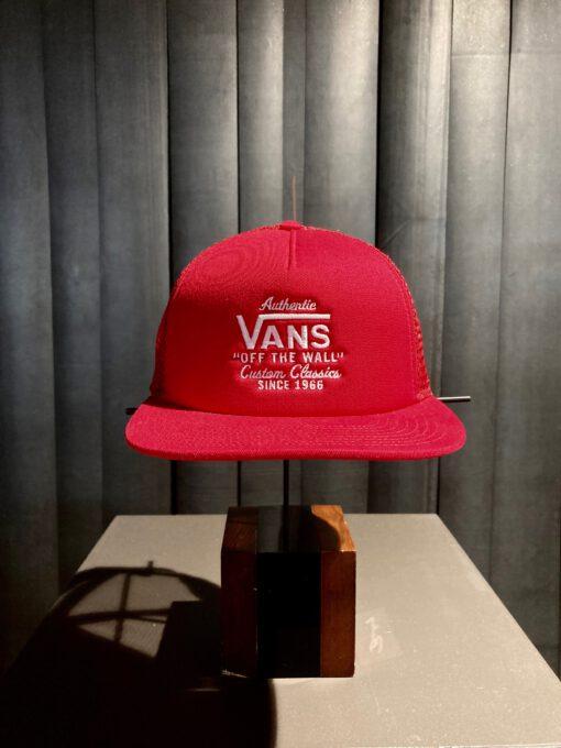 Vans MN Galer Trucker Cap, Racing Red, Gross real wear München, Boys Cap, Mesh Cap, Kinder Cap