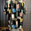 Star Of Hollywood Card of Games 1950's Shirt, kurzarm, Rayon, Viscose, Brusttasche, Loop Collar, Reverskragen, Gross real wear München, Black