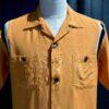 Style Eyes 1950's With Ribs Bowling Shirt, Brusttaschen, Rayon, Viscose, Loop Collar, Reverskragen, Gross real wear München, Orange