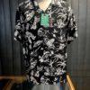 Sun Surf History of Paradise Hawaiian Shirt, kurzarm, Rayon, Viscose, Brusttasche, Loop Collar, Reverskragen, Gross real wear München, Black