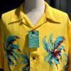 Sun Surf Island Palm Breeze Hawaiian Shirt, kurzarm, Yellow, Loop Collar, Reverskragen, Brusttasche, Viscose, Rayon, Gross real wear München