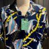Sun Surf Kihi Kihi Hawaiian Shirt, kurzarm, Rayon, Viscose, Brusttasche, Loop Collar, Reverskragen, Gross real wear München, Navy