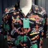 Sun Surf Southsea Trip Hawaiian Shirt, kurzarm, Rayon, Viscose, Brusttasche, Loop Collar, Reverskragen, Gross real wear München, Black