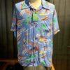 Sun Surf Southsea Trip Hawaiian Shirt, kurzarm, Rayon, Viscose, Brusttasche, Loop Collar, Reverskragen, Gross real wear München, Hellblau