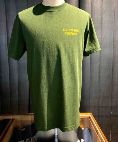 Filson X Smokey Bear Pioneer Graphic T-Shirt, Timber Gold Black, Cotton, Gross real wear München, Front and Backprint, Prevent Wildfires