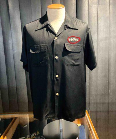 King Louie 1950's Dan Hamm Bowling Shirt, Black, Loop Collar, Reverskragen, Rayon, Viscose, Flap Pockets, Front and Back Chain Stitch, Gross real wear München