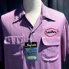 King Louie 1950's Dan Hamm Bowling Shirt, Lila, Loop Collar, Reverskragen, Rayon, Viscose, Flap Pockets, Front and Back Chain Stitch, Gross real wear München
