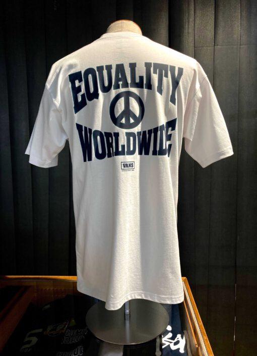 Vans MN Equality T-Shirt, Weiß, Cotton, Front- Back Print, Gross real wear München, Worldwide