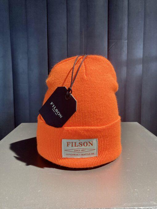Filson Ballard Watch Cap, Filson Logo,Blaze Orange, Gross real wear München, Acrylic