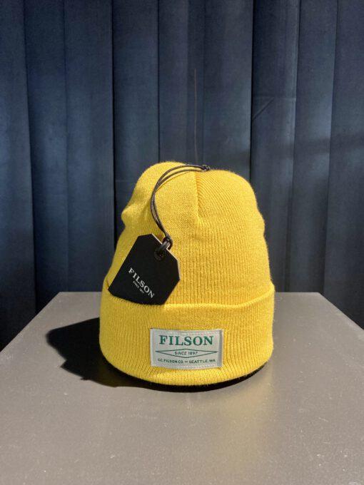 Filson Ballard Watch Cap, Filson Logo, Pilsner, Gross real wear München, Acrylic