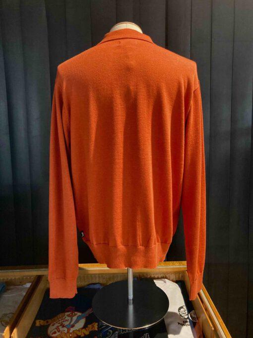 Stüssy Color Block Sweater, Burnt Orange, Strickjacke, Knopfleiste, Gross real wear München