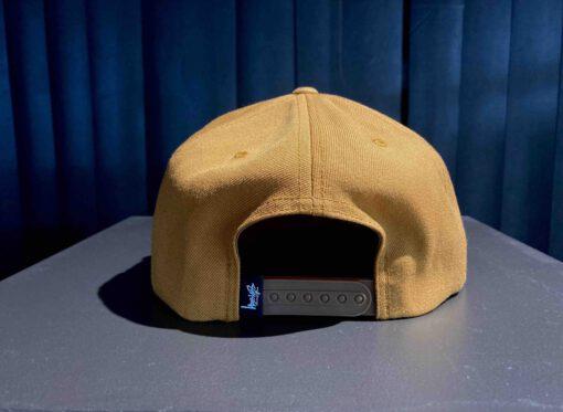 Stüssy Basic Stock Cap, Light Brown, 6 Pannel Cap, Logo Stickerei, Gross real wear München, Snapback, gewebte Ösen