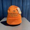 Stüssy Design Corp Cuff Beanie, Orange, Strickmütze, Front Stickerei mit Stüssy Logo, Gross real wear München