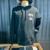 Stüssy Stock Crown Hood, Black, Kaputzensweatshirt, Gross real wear München, Front und Backprint, Stüssy Krone, Tasche