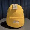 Stüssy Stock Cuff Beanie, Gold, Gross real wear München, Acrylic, Front Embroidered Stüssy Logo, Stickerei