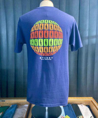 Stüssy Stratosphere T-Shirt, Navy, Cotton, Gross real wear München, Front und Backprint