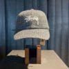 Stüssy Wool Check Big Stock Low Pro Cap, Woll Cap, Charcoal, Gross real wear München, Stüssy Front Logo Stickerei, Metallverschluss