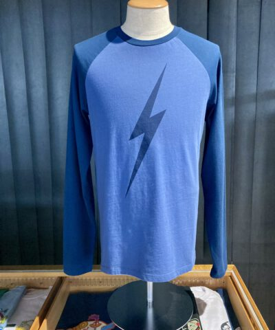 Lightning Bolt Forever Long Sleeve, Flash, Front Logo Print, langarm, Gross real wear München, Navy, Two Tone
